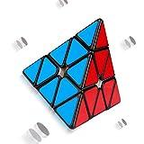 GYFY Rubik es Würfel professioneller klassischer Puzzle-Spiel Stahlkugel magnetische Positionierung konkurrenzfähigen Tourismus Pyramide Würfel (Fluoreszierende rote magnetische Version)
