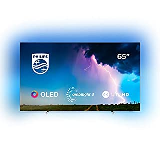 Philips Ambilight 65OLED754/12 164 cm (65 Zoll) OLED Smart TV mit Alexa-Integration (4K UHD, P5 Perfect Picture Engine, Dolby Vision, Dolby Atmos, HDR 10+, Saphi Smart TV) Silber (B07RWNPDC9)   Amazon price tracker / tracking, Amazon price history charts, Amazon price watches, Amazon price drop alerts