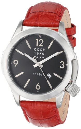 CCCP Men's CP-7010-02 Shchuka Analog Display Swiss Quartz Red Watch