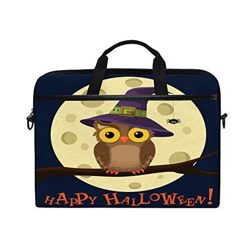Hunihuni Halloween-Laptoptasche, Schultertasche, Umhängetasche, Aktentasche mit Tragegurt, für Damen und Herren