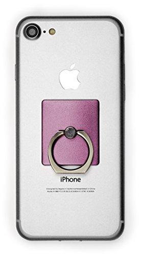 MyGadget Fingerhalterung Smartphone Ring - Aluminium Fingerring mit Kickstand - Fingerhalter Halterung für u.a. Apple iPhone, Samsung Galaxy in Rosa