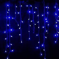 CRAVOG 3.5M 96 LED Rideau de Lumière Commandables Etance pour Noël Mariage Fête 5 Couleur disponible EUR Prise