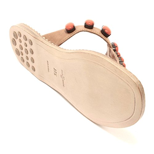 92952 infradito ciabatta CAR SHOE NAPPA AVIATOR sandalo scarpa donna shoes women Cuoio