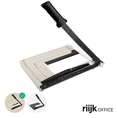 Tagliacarte a4 - taglierina professionale a leva per carta, tagliacarte con linee di formato con arresto metallico incluso