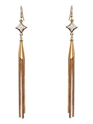 Chain and Pearl Drop Earrings  available at amazon for Rs.149