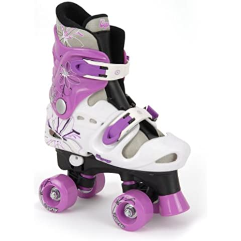 Osprey - Patines infantiles en paralelo, color negro / morado / blanco (black/white/purple), talla 31,5 -