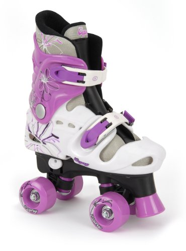 Osprey - Patines infantiles en paralelo, color negro / morado / blanco (black/white/purple), talla 31,5 - 35,5