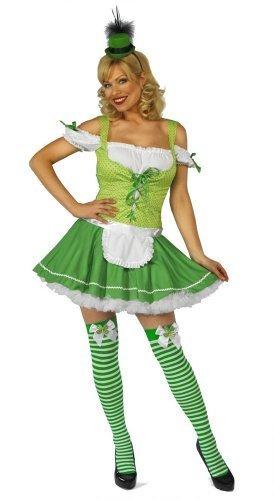 St Patricks Irischer Kobold Weiblich Maskenkostüm - groß (UK - Weibliche Kobold Kostüm