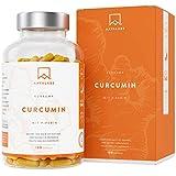 AAVALABS Kurkuma Kapseln Hochdosiert [ 4230 mg ] - 95% Curcumin Extrakt Komplex, Curcuma Pulver und Piperin pro Tagesdosis - 180 Kapseln - Vegan & Laborgeprüft - Hergestellt in der EU.