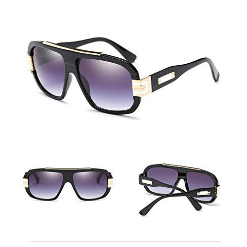 Chudanba Weinlese-Art-Frauen-quadratische Sonnenbrille-Markendesigner-Art- und Weisemänner-Verlaufsglas-Gläser großer Rahmen Eyewea,6