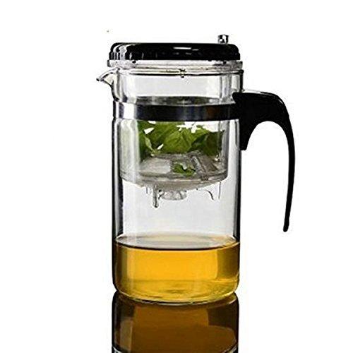 LEXPON Gongfu Tee Maschine mit Filter Glas Teekanne 500ml