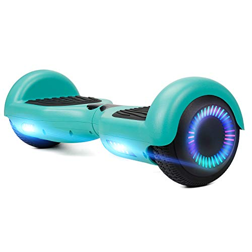 Sumwell Self Balancing Scooter, Hoverboard Kinder, 2 Rad Elektro Scooter with Dual 300W Motor Free Carry Bag, UL 2272 Certified, Space Scooter, LED - Elektro Skateboard 6,5 Zoll (Grün)