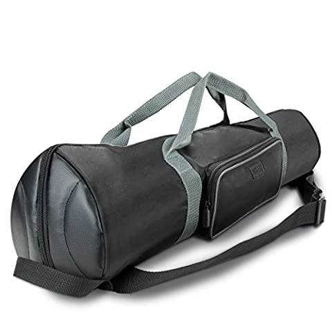 Protective Photography Tripod Case Bag w/ Expandable Compartment & Accessory Storage - For Tripods from 21