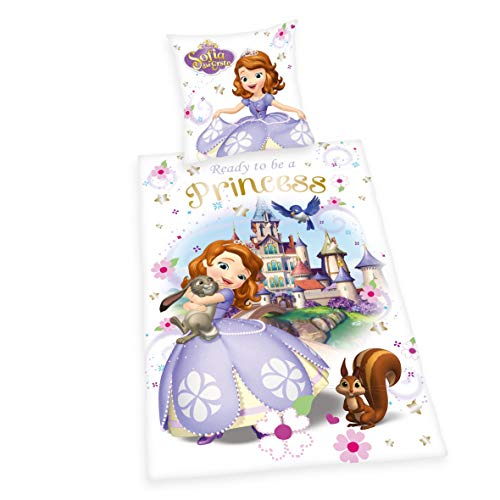 Herding 4479045050 Bettwäsche Disney's Sofia die Erste, Kopfkissenbezug, 80 x 80 cm und Bettbezug, 135 x 200 cm, renforce