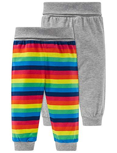 Schiesser Unisex Baby Multipack 2pack Hosen lang Schlafanzughose, Mehrfarbig (Sortiert 1 901), 86 (Herstellergröße: 086) (2er Pack)