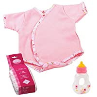 Gotz 3403102 Baby Dolls First Step - Size M - Dolls Clothing / Accessory Set - Suitable For Baby Dolls Size M (42 - 46 cm)