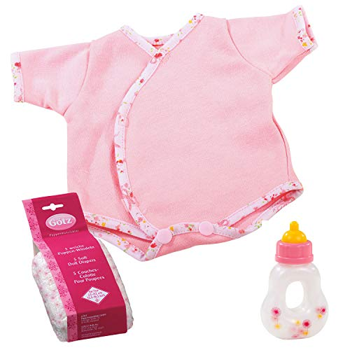 Körper Milch Set (Götz 3403101 Babypuppen First Step Set - Puppenbekleidung Gr. S - 7-teiliges Bekleidungs- und Zubehörset für Babypuppen von 30 - 33 cm)