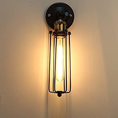 Sconce Wall Light Lamp Loft Cage Modern Vintage Retro Industrial Style Holder E27 Socket (No Bulb Included) from wanlianeur