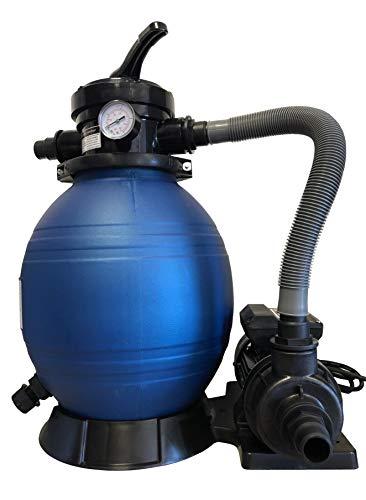 well2wellness® Pool Sandfilteranlage/Kompaktfilter D300 - speziell für kleinere Pools + Aufstellbecken
