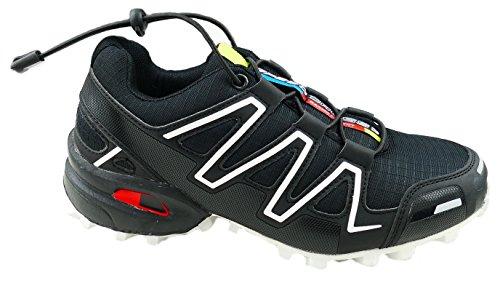 gibra , Chaussures de course pour homme Schwarz/Weiß