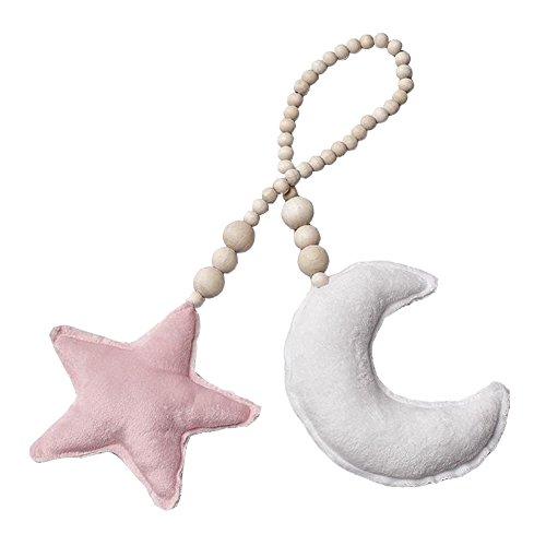 Bestomrogh INS Nordischer Stern Mond Quaste Holz Perlen Ornament Kinderzimmer Dekoration Kinderzimmer Zelt Hängende Wand Deko Fotografie Requisiten -