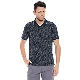 Color Plus Mens Printed Polo T-Shirt