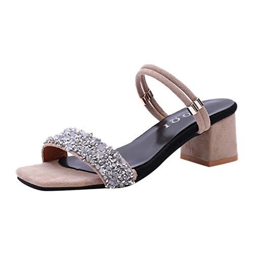 Qinmm sandali tacco largo sandali estive donna eleganti boemo mare donna romani sandali tacco medio sandali gioiello sandali sexy