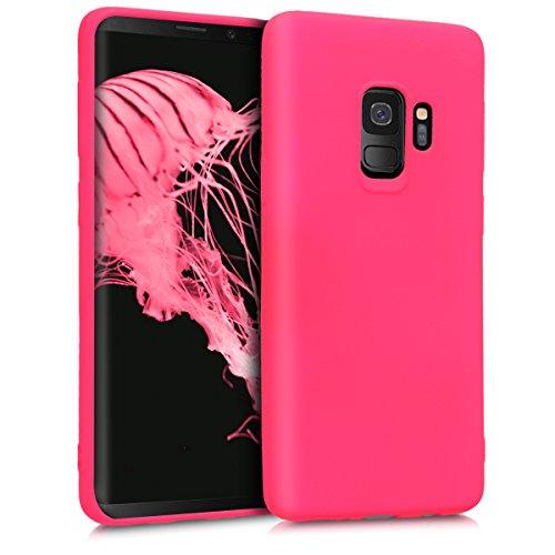 kwmobile Samsung Galaxy S9 Hülle - Handyhülle für Samsung Galaxy S9 - Handy Case in Neon Pink