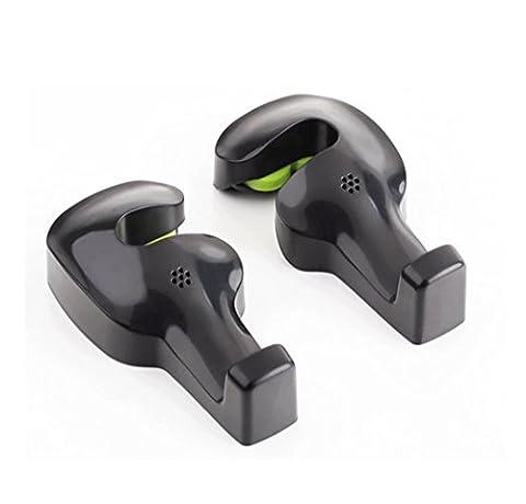 Ac.y.c Car Vehicle Back Seat Headrest Hanger Holder Hooks (Black -Set of 2)
