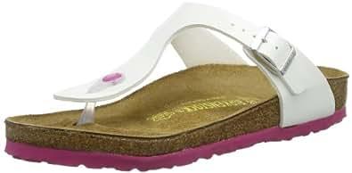 Birkenstock Gizeh, Women's Sandals, Bianco (Weiß (WEISS  LS PINK)), 2.5 UK