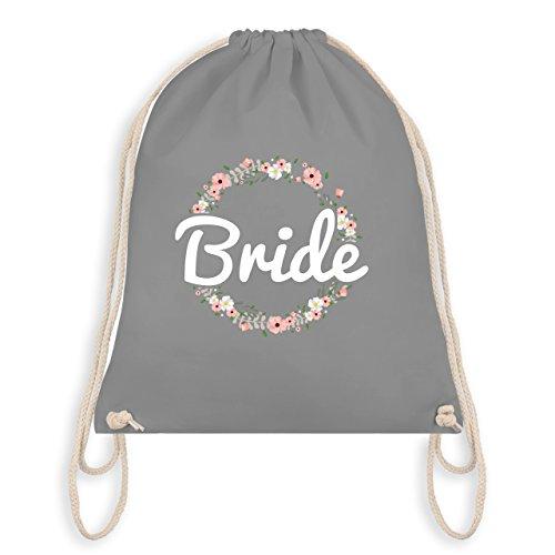 Shirtracer JGA Junggesellinnenabschied - Bride Blumenkranz - Unisize - Hellgrau - WM110 - Turnbeutel I Gym Bag