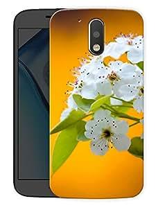 "Humor Gang White Flowers LilyPrinted Designer Mobile Back Cover For ""Motorola Moto G4"" (3D, Matte Finish, Premium Quality, Protective Snap On Slim Hard Phone Case, Multi Color)"