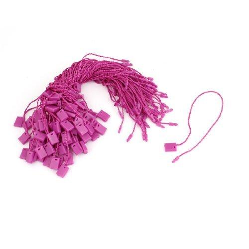 Almohada cuidado de la colada de ropa de etiqueta Etiqueta de precio Línea de tira de 100pcs fucsia