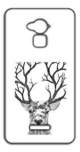 Happoz Deer Sketch 0  back case Mobile Phone Back Panel Printed Fancy Pouches Accessories Z1577