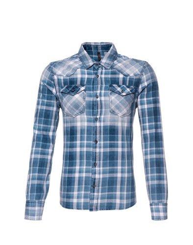 LTB-Camicia a maniche lunghe da uomo, blu, M