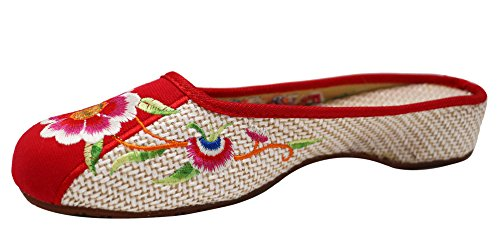 <span class='b_prefix'></span> ICEGREY Women's Florl Love Bird Embroidered get On Clogs