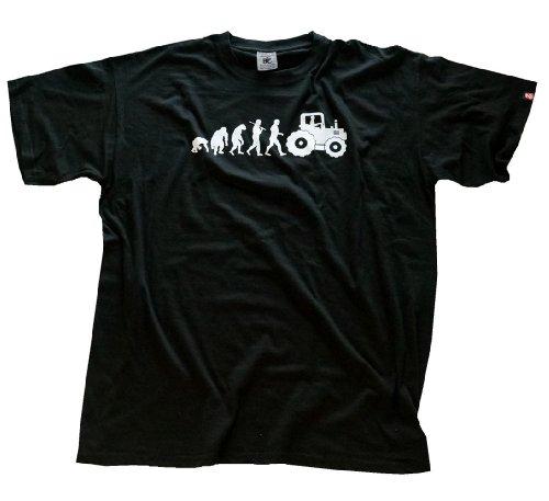 shirtzshop-maglietta-da-adulto-con-grafica-evoluzione-del-conducente-di-trattore-nero-nero-l