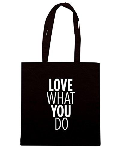 T-Shirtshock - Borsa Shopping CIT0158 love what you do Nero