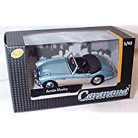 cararama open top blue milky austin healey vehicle 1:43 scale diecast model