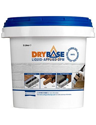 Drybase Liquid Damp Proof Membrane (5L White) - Liquid DPM Damp Proofing Paint