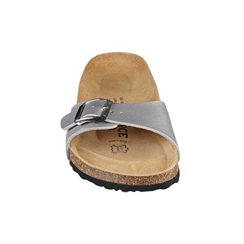 JOE N JOYCE Porto SynSoft sottopiede morbido sandali stretto Silver