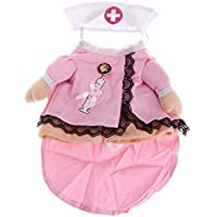 qingqingR Pet Cat Dog Nurse Turned In A Halloween Traje de Disfraces de Halloween L 1Pc