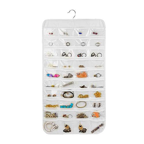 Vkospy 80 Taschen-hängende Schmuck Organizer Non-Woven Hanging Zubehör Speicher Space Saver Hanger Rack- - Hängen Schmuck Es Organizer