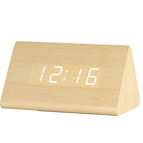 Najiny Despertadores Digitales Reloj Madera LED Control