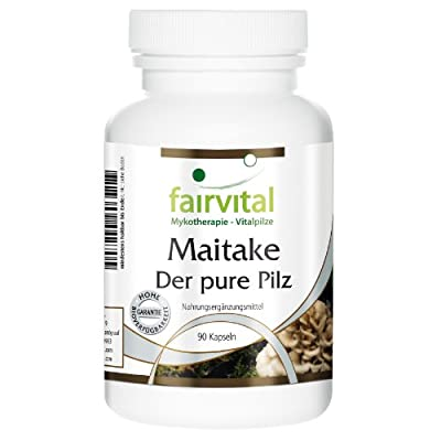 Fairvital - Maitake - The Pure Mushroom 500mg - Grifola Frondosa Mushroom Powder - 90 Vegetarian Capsules by fairvital