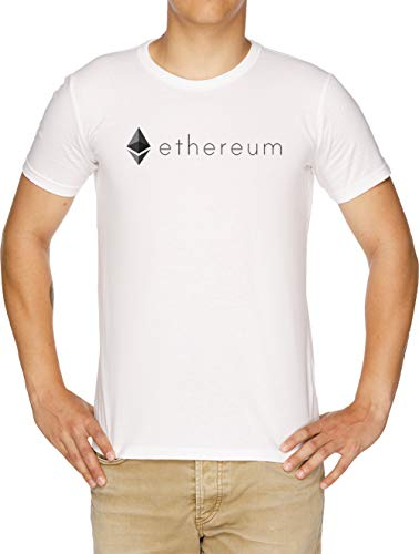Ethereum Logo Camiseta Hombre Blanco