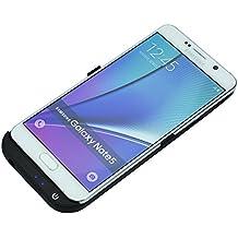 Mondpalast@ Negra USB Externos 5200 mah Batería Funda Cargador Para Samsung Galaxy Note 5 N920 SM-N920T SM-N920A