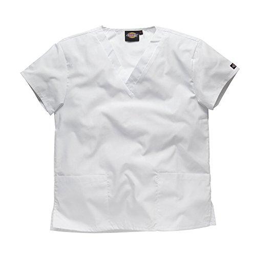 DICKIES WORKWEAR Schlupfhemd Medizin 2 Taschen mit V-Ausschnitt S weiß