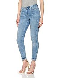 Vero Moda Vmseven Nw Supslim Jeans Ba958 Noos, Pantalones Vaqueros Delgados para Mujer