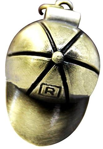 HorBous Creative Retro Vintage Bronze Pocket Watch Montres à quartz Pendentif Collier avec boîte cadeau Set- 6 Styles (Chapeau)